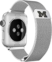 Michigan Wolverines Stainless Steel Band Compatible with The Apple Watch - 42mm/44mm