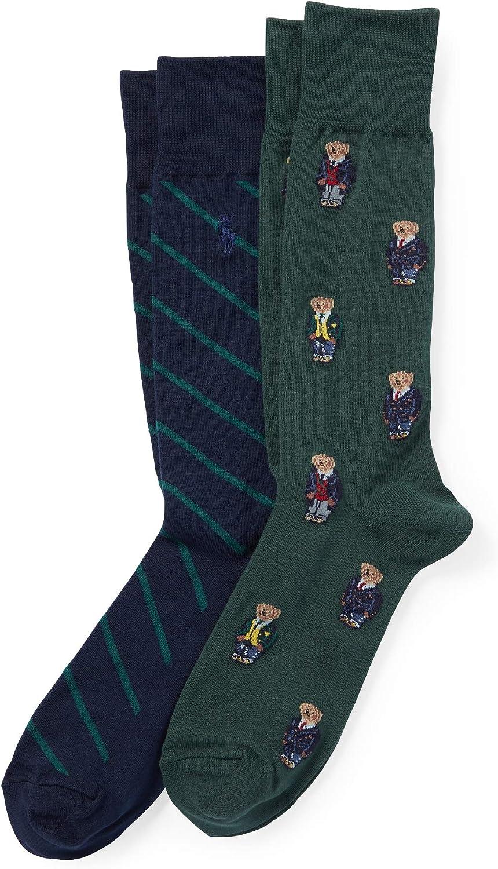 Polo Ralph Lauren Men's Preppy Bear Sock 2-Pack, SIZE 6-12