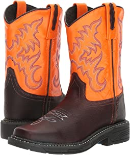 Old West Kids Boots - Square Toe Work Sole Boot (Toddler/Little Kid)