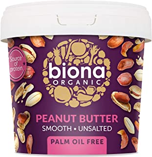 Biona Organic Peanut Butter Smooth with Sea Salt, 1Kg
