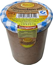 Pfannenschmaus weiss im Glas 370g - Hausmacher Fleisch - Kochwurstspezialität mit Schweinefleisch und frischer Leber zum h...