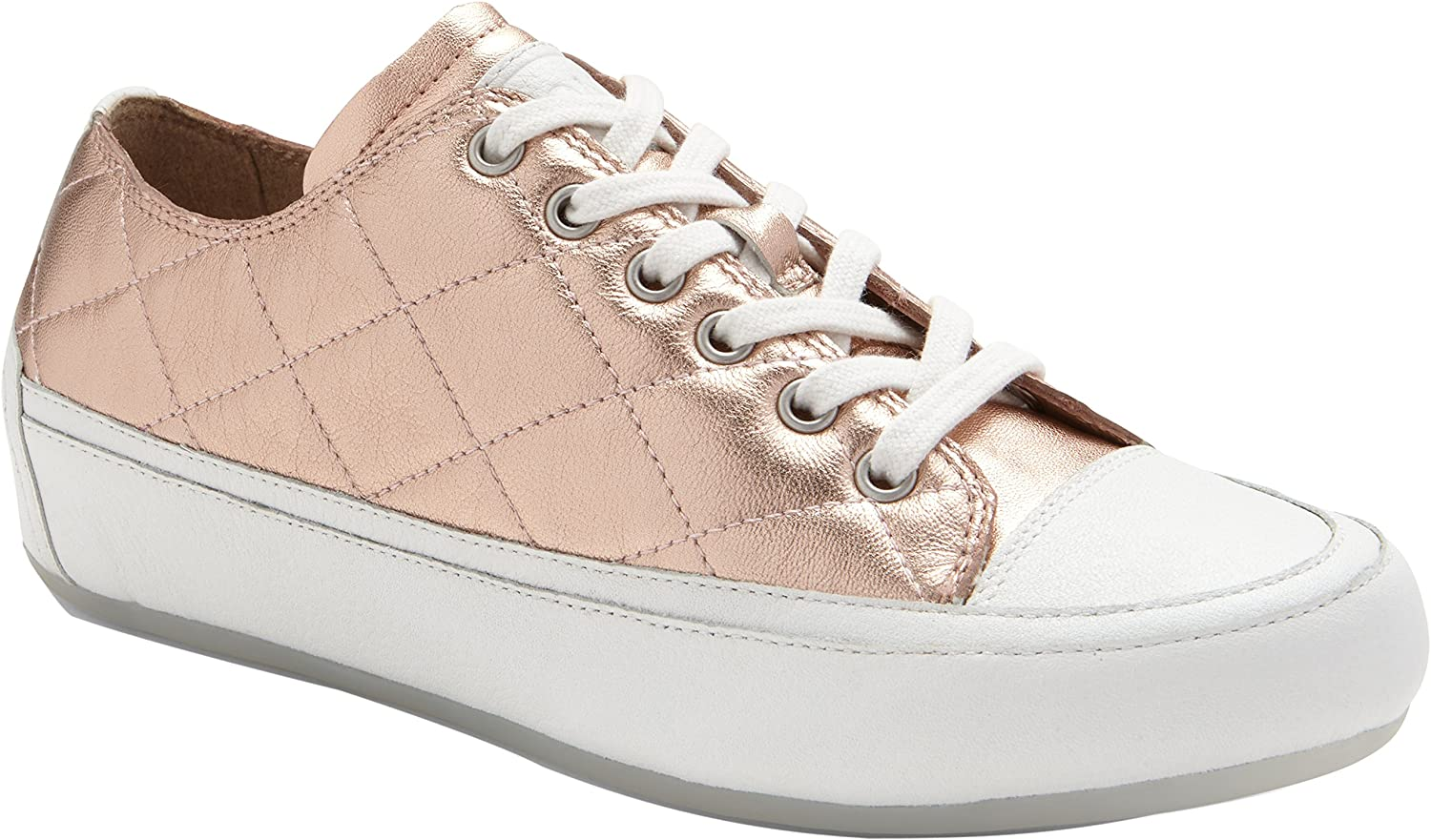 Vionic Womens Delight Edie Lace Up Sneaker, pink gold, Size 5