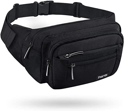 FREETOO Waist Pack Bag Fanny Pack for Men&Women Hip Bum Bag with Adjustable Strap for Outdoors Workout Traveling Casu...