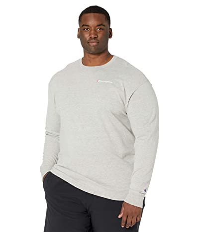 Champion Classic Graphic Long Sleeve T-Shirt (Oxford Gray) Men