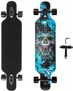 Longboard Wheel Set,Skateboardr/äder Cross Cruiser Cruiser Longboard Aus PU F/ür Ollie Punk Und Sprung,Blackdoesnotflash LILI Skateboard-R/äder