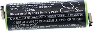vhbw Batterij vervanging voor Moser 1590-7291, 1591-0062, 1591-0067 voor scheerapparaten tondeuse (1200mAh, 1,2V, NiMH)