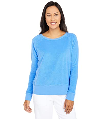 Mod-o-doc Terrycloth Raglan Sleeve Boxy Sweatshirt (Cobalt) Women