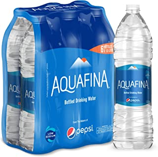 Aquafina Bottled Drinking Water, 6 x 1.5 Litre