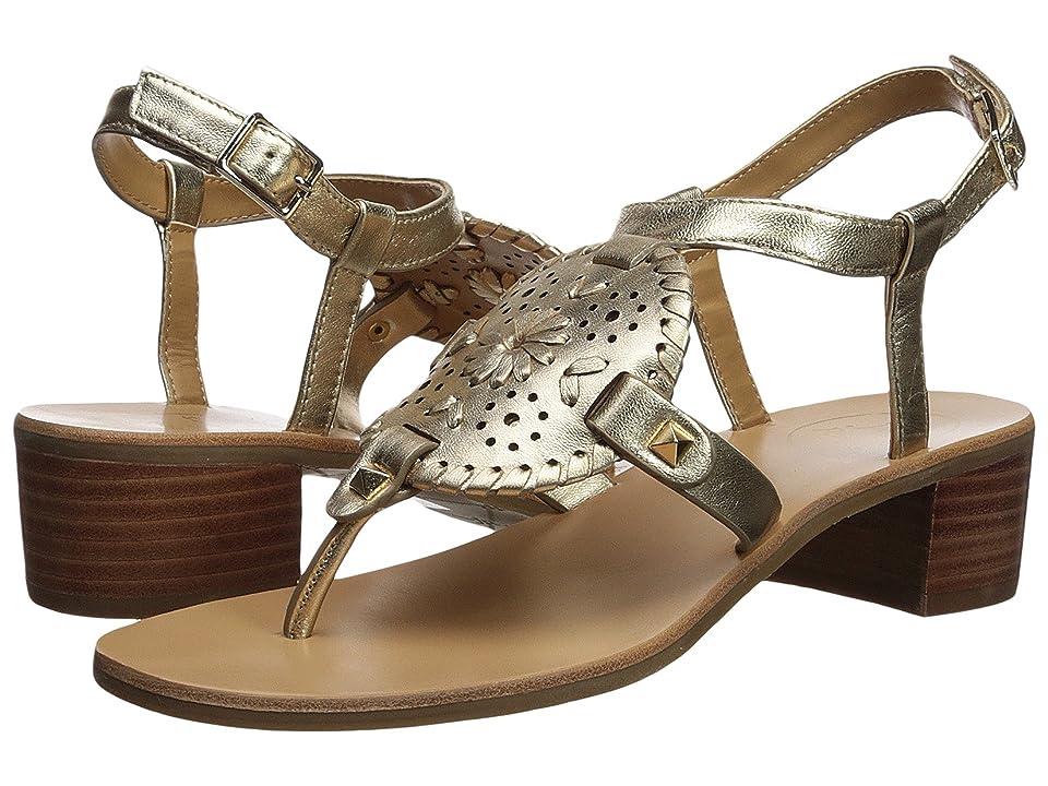 Jack Rogers Gretchen Heeled Sandal (Platinum) High Heels