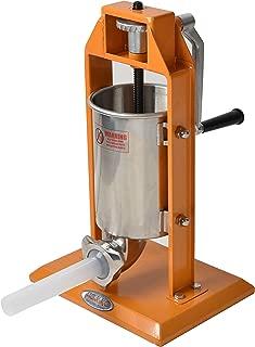 Hakka Sausage Stuffer 7 Lb/3 L Stainless Steel Vertical Meat Filler(color Orange)