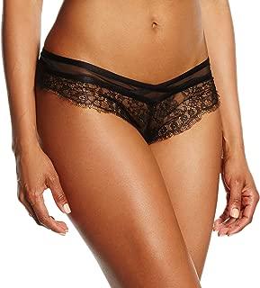 Eyelash Lace Cheeky Bikini, M, Black