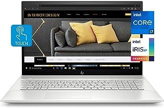 HP Envy 17 Laptop, Intel Core i7-1165G7, 12 GB DDR4 RAM, 1 TB HDD, 128 GB SSD, 17.3-inch FHD Touchscreen Display, Windows ...