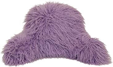 Brentwood Originals Mongolian Fur Jr Back Rest Pillow, Small Backrest, Lavender