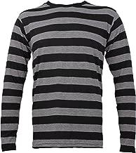 Largemouth Striped Long Sleeve Shirt Black Stone Grey Adult