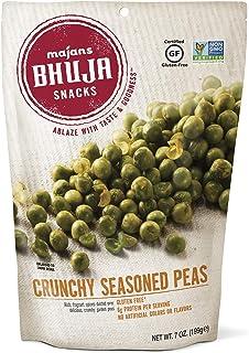 Majans Bhuja Gluten Free Snack Mix, Non-GMO   No Preservatives   Vegetarian Friendly   No Artificial Colors or Flavors, Crunchy Seasoned Peas, 7 Ounce