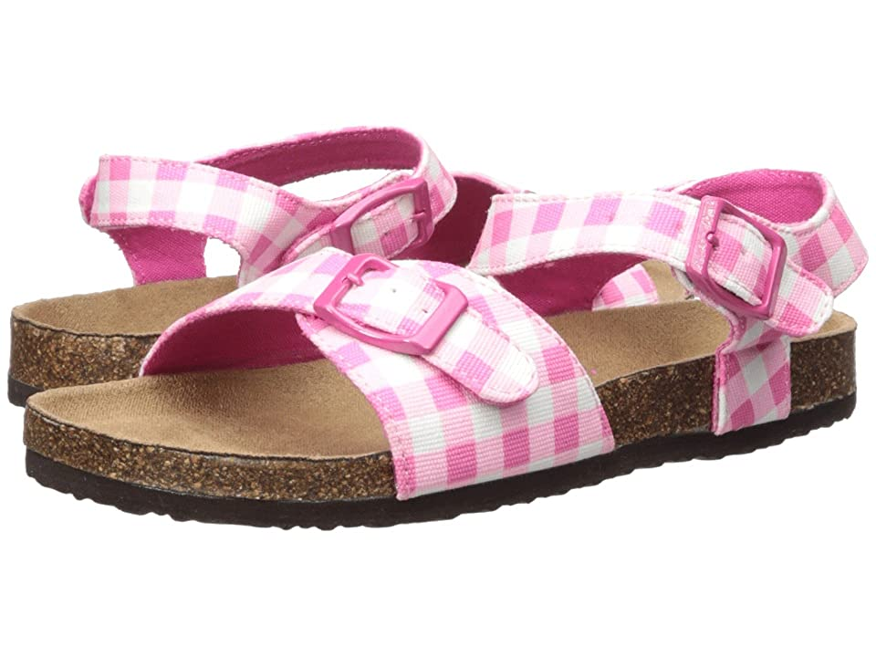 Joules Kids Tippy Toes Sandal (Toddler/Little Kid/Big Kid) (Pink Gingham) Girls Shoes
