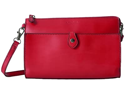 Lodis Accessories Audrey RFID Vicky Convertible Crossbody Clutch (Red RFID) Clutch Handbags