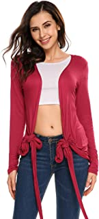 SoTeer Women's Convertible Long Sleeve Casual Wrap Cross Over Blouse Top