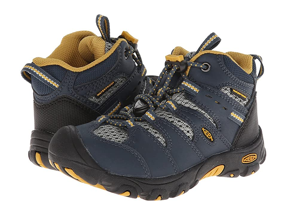 Keen Kids Koven Mid WP (Toddler/Little Kid) (Midnight Navy/Tawny Olive) Boys Shoes