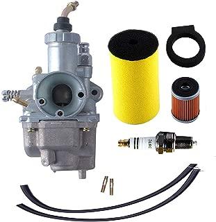 250 Carburetor for Yamaha Timberwolf YFB250 YFB250FW with 1YW-14451-00-00 Air Filter 1992-2000 YFB250D YFB250E YFB250FWF YFB250FWH YFB250FWJ YFB250FWK YFB250FWM Oil Filter Spark Plug ATV Parts