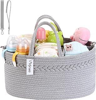 Hinwo Babyluier Caddy 3-voudig zuigelingen kinderkamer boodschappentas draagbare auto-organizer pasgeborenen douche cadeau...