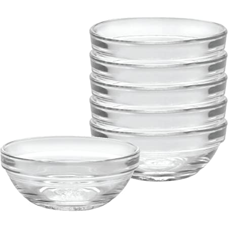 Duralex Made In France Lys Stackable Clear Bowl, 3.5-Inch, Set of 6