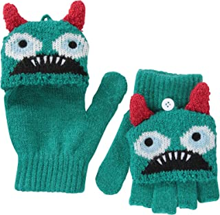 Mountain Warehouse Monster Kids Knitted Gloves - Lightweight Girls Glove, Warm & Cosy Boys Hand Warmer, Easy Care -Best for Winter Travelling, Outdoors, Camping & Hiking