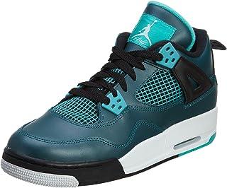 quality design fdec8 335b0 Nike Mens Air Jordan 4 Retro 30th BG Teal Teal White-Black Leather Size