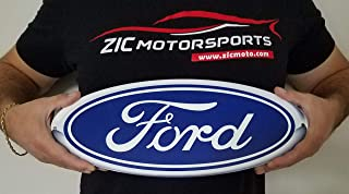 ZIC Motorsports Ford Blue Oval Heavy Duty Metal Garage Wall Sign - 15