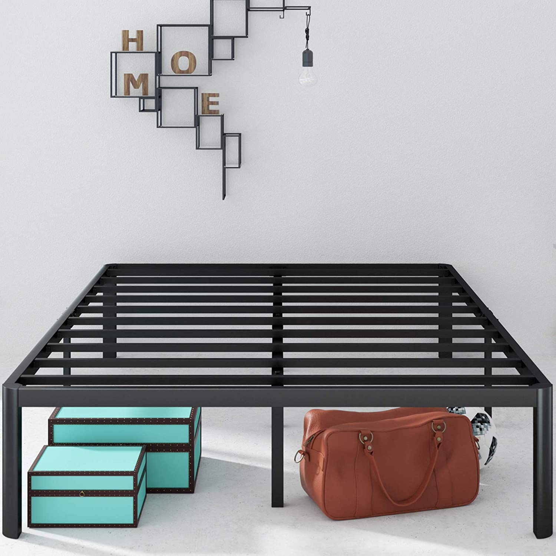 Zinus Van 16 Inch Metal Platform Bed Frame with Steel Slat Support / Mattress Foundation, King: Furniture & Decor
