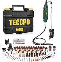 TECCPO 10000-40000 RPM 200W Herramienta multifunción, con 120 accesorios, mini taladro de 5 velocidades variable, ideal para grabar, cortar, pulir, lijar, taladrar -TART13P