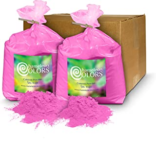 Holi Powder Gender Reveal by Chameleon Colors – 10 lbs Pink. Same premium, authentic product used for a color races, 5k, etc.