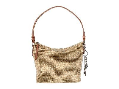 The Sak Sequoia Crochet Small Hobo (Bamboo Static) Handbags
