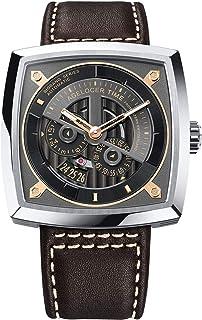 agelocer 艾戈勒 瑞士品牌 大爆炸系列 自动机械男士手表 时尚创意镂空方形 5603A2(亚马逊自营商品, 由供应商配送)