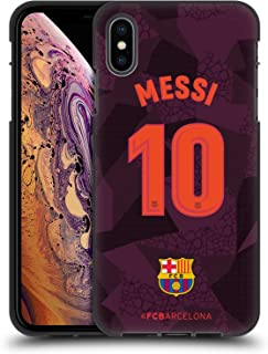 Official FC Barcelona Messi 2017/18 Players Third Kit Group 1 Black Soft Gel Case Compatible for iPhone Xs Max
