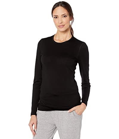 Icebreaker 200 Oasis Merino Baselayer Long Sleeve Crewe (Black) Women