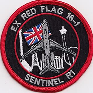 Royal Air Force RAF 5 Squadron Exercise Red Flag Embroidered Patch Badge