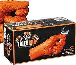 Eppco 8846 tigergrepp orange nitrilhandskar – XXL – texturerat grepp – låda (90 st)