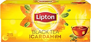 Lipton Flavoured Black Tea Cardamom, 25 Teabags