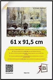 3B Poster - 61x91,5 cm (ca. 24x36) - Black - Plastic Photo Poster Frame with styrene Glass
