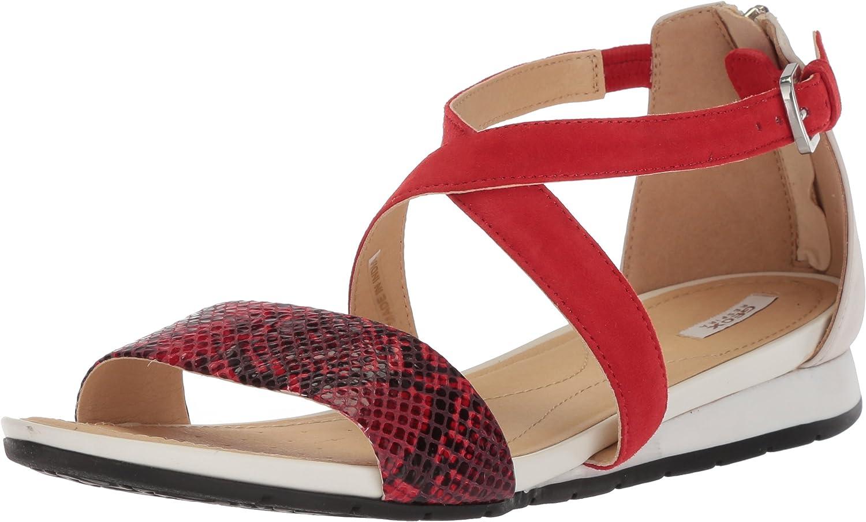 Geox Damen Damen D Formosa A Peeptoe Sandalen  Top-Marken verkaufen günstig