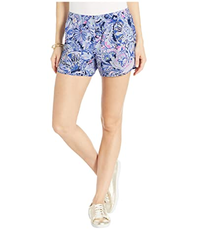 Lilly Pulitzer Ocean Trail Shorts (Iris Blue Namastay in The Jungle) Women