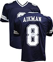 Authentic Troy Aikman Autographed Signed Custom Blue Jersey (JSA Hologram) Dallas Cowboys HOF QB