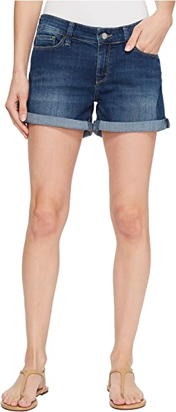 Vanna Mid-Rise Cuffed Shorts in Dark Shaded Tribeca