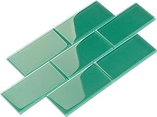 emerald green bathroom tiles