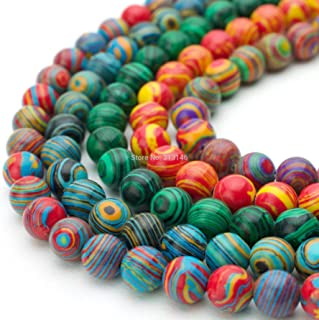 SHENGSHIHUIZHONG Wholesale Round Peacock Malachite Lace Striped Stone Stone Strand Beads for DIY Bracelet Necklace Jewelry Making 4 6 8 10 12mm Color : Green, Size : 12mm
