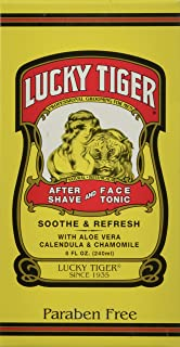 Lucky Tiger After Shave and Face Tonic, 8 Ounce