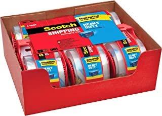 "Scotch Heavy Duty Packaging Tape, 1.88"" x 22.2 yd, Designed for Packing, Shipping and Mailing, Strong Seal on All Box Type..."