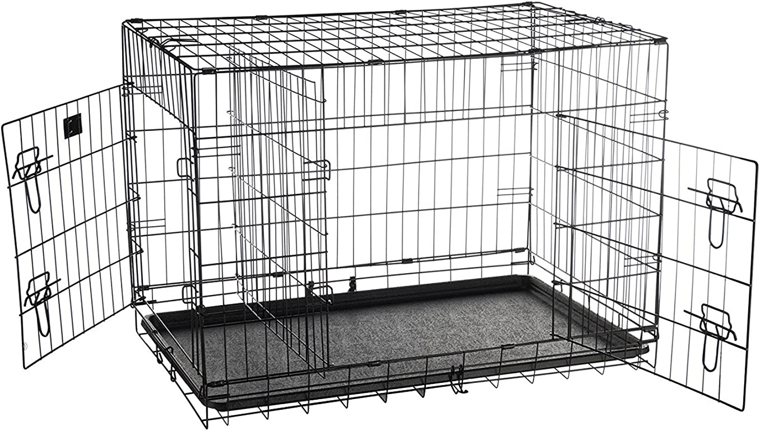 Pet Trex 2192 ABS 36 Inch Dog Crate Double Door Folding Pet Crate Kennel, 36