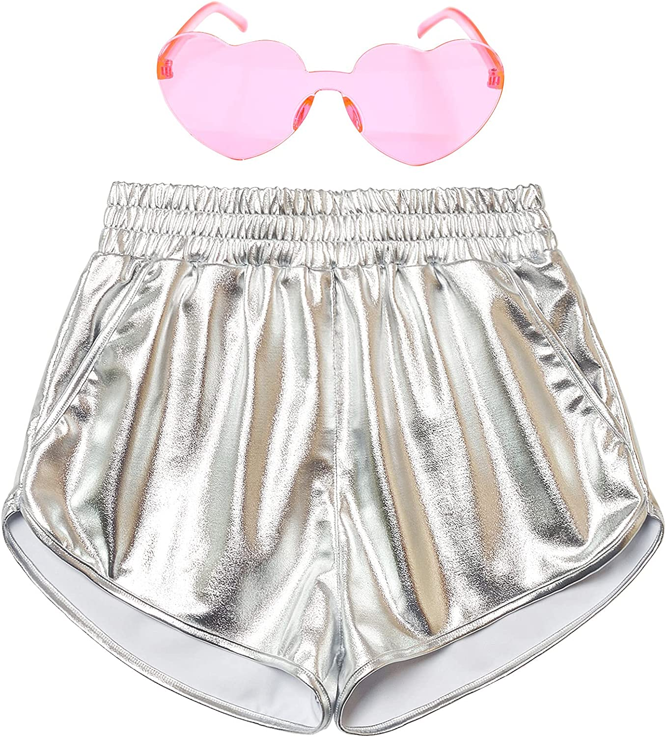 Mirawise Inventory cleanup selling sale Girls Metallic Shorts Shiny Pants Out Hot Dance Sparkly New product! New type